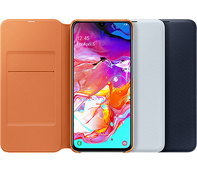 Чехол Samsung Wallet Cover для Galaxy A70 белый