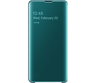 Чехол Samsung Clear View Cover S10 зеленый