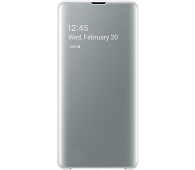 Чехол Samsung Clear View Cover S10+ белый