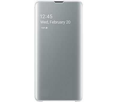 Чехол Samsung Clear View Cover S10 белый