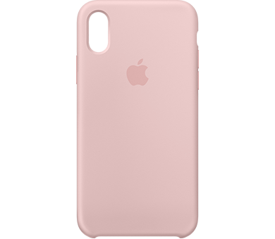 Чехол Apple Silicone Case для iPhone X розовый