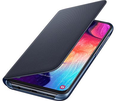 Чехол Samsung Wallet Cover для Galaxy A50 черный