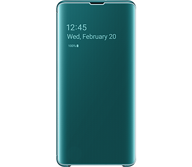 Чехол Samsung Clear View Cover S10+ зеленый