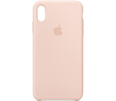 Чехол Apple iPhone XS Silicone Case розовый