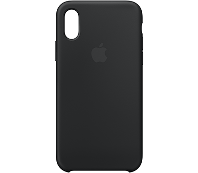 Чехол Apple iPhone Xs Silicone Case черный