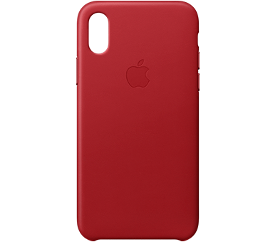 Чехол Apple Leather Case для iPhone X (PRODUCT)RED™ Special Edition