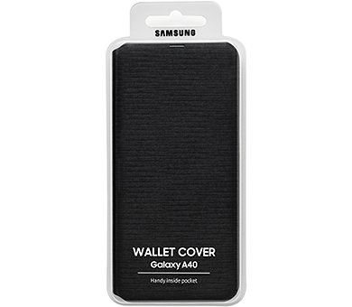 Чехол Samsung Wallet Cover для Galaxy A40 черный