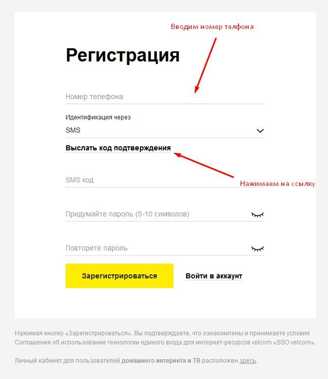 Индетификация через SMS